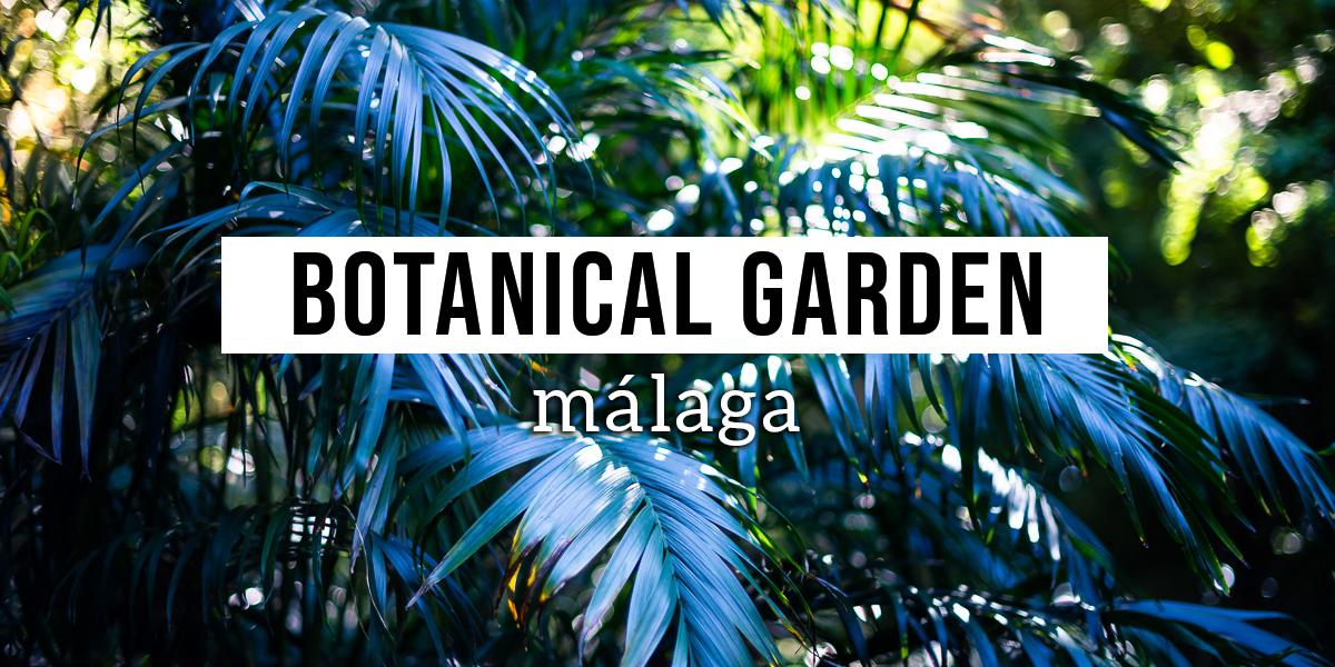 Botanical Garden Malaga Header