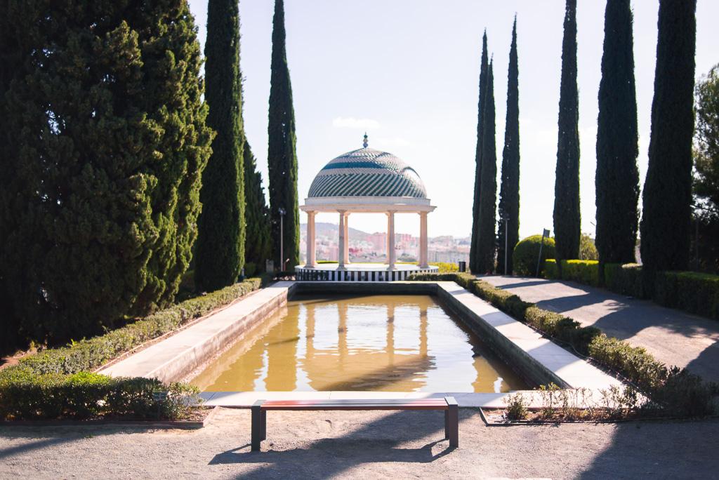 The historical viewpoint Botanical Garden Malaga