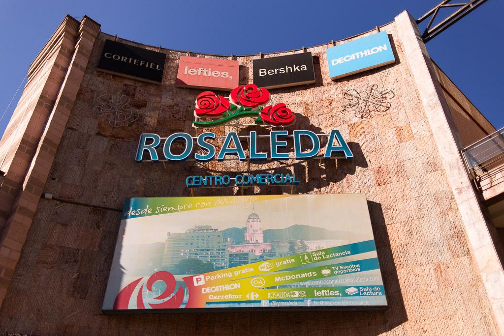 Rosaleda shopping center in Malaga