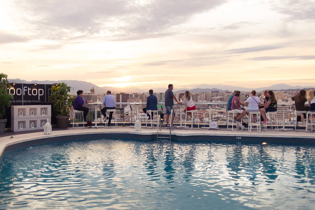 Ac hotel rooftop Malaga