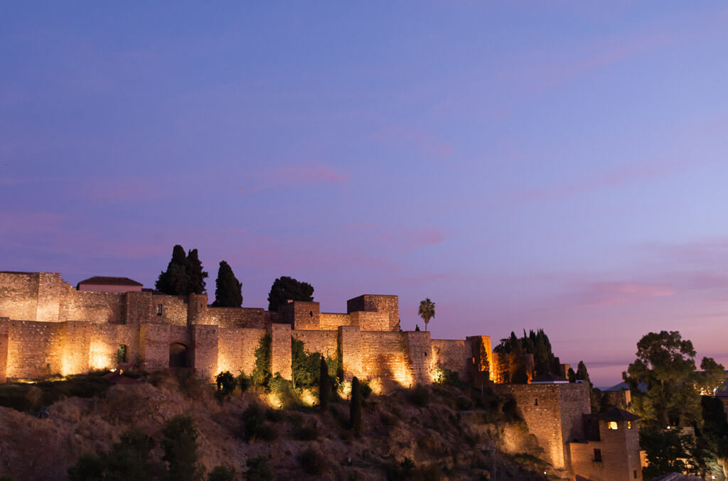 Alcazaba by night