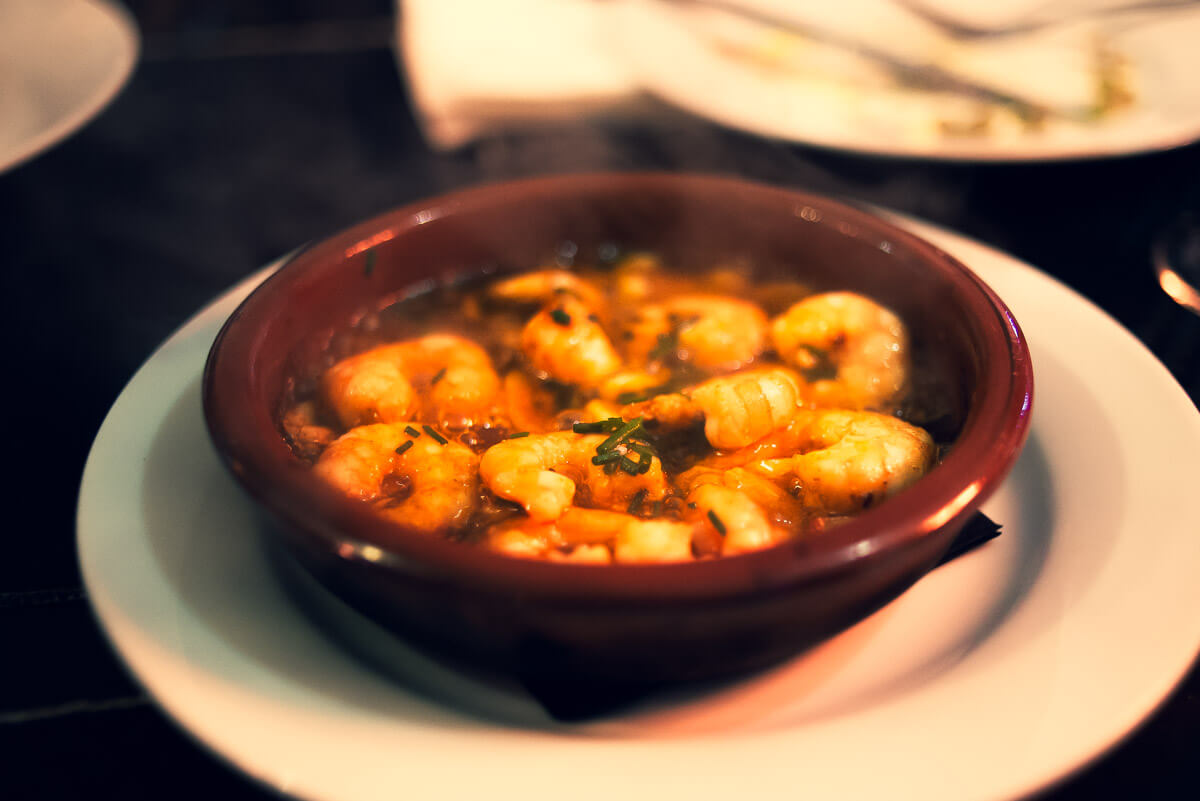 Gambas al Pil Pil tradicional food Malaga